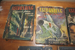 "Vintage Set of 5 ""Astounding Science Fiction"" from the 1940s London Ontario image 2"
