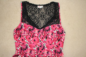 Pretty pink and black dress, size small