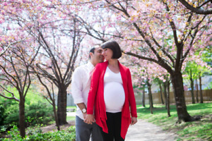 Engagement session • couple's photo shoot  in Cherry Blossoms