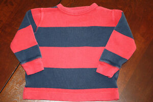 Baby GAP Knit Shirt Red and Navy- 2T