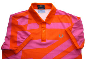 Fred Perry & Son Polo VERY RARE! shirt Orange & Pink Men's
