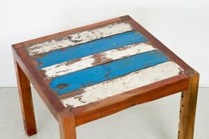 Reclaimed Boatwood Dining Table - Original Paint