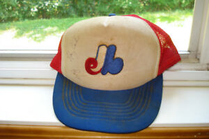Vintage Montreal Expos Ballcap signed by Gary Carter/Bill Lee
