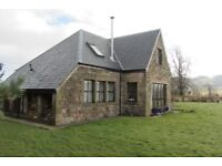 Impressive 4 bedroom stone built house in rural location with fantastic outlook.