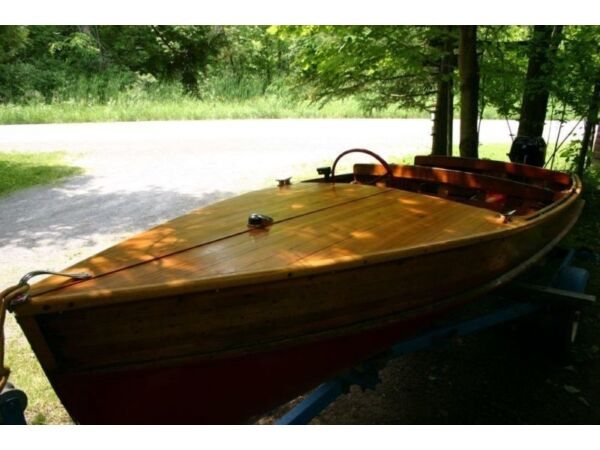 Used 1960 Peterborough/Alcan Wooden Cedar Strip motor boat
