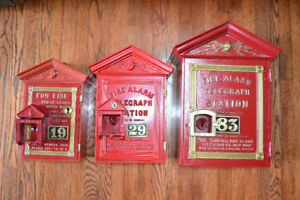 Old Fire Alarm Boxes and Gamewell Equipment