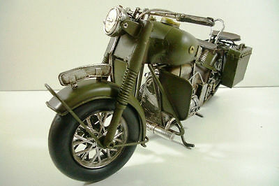 Motorrad Blech 35cm Motorrad Bike Militär Bundeswehr Dekoration
