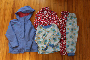 Size 5-6 girl's clothing - 14 items including rain coat!