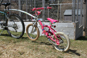 "Girl's 16"" Connect Cycle Bike and Tow-Arm"