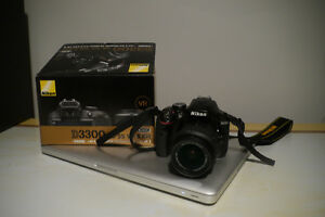Nikon D3300 24.2 MP CMOS Digital SLR Camera with 18-55mm Zoom Le