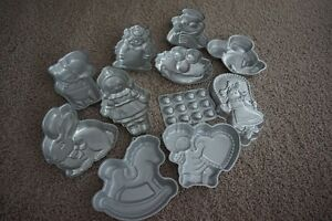 """47 AUTHENTIC """"WILTON"""" METAL CAKE PANS~LIKE NEW! $12.98 EACH"""