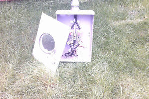 Electrical pole and meter box