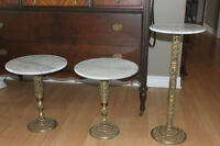MARBLE & BRASS TABLES