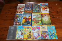 Large Lot of Kid's VHS Movies