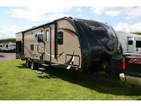 American Caravan travel trailer 2014, not 5th wheel, 2 bedrooms, 11 berth, twin axle, Holiday Spain