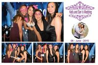 Chocolate and champagne fountain, Photo booth rentals