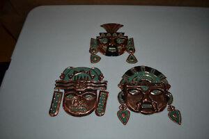 Copper Masks From Peru (5 total)