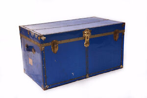 Great Old Steamer Trunk 45 x 25 x 24""