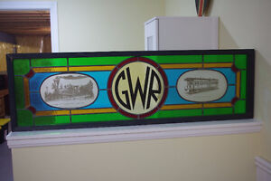 Framed Stained Glass Great Western & Canadian Railway Art Piece London Ontario image 3