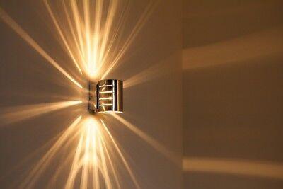 Wandleuchte Design Wandstrahler Chrom Flurlampe Leuchte Wandlampe Lampe Schalter