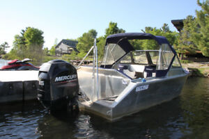 2014 Stanley 18' Boat with 115hp Mercury - PRICE REDUCED