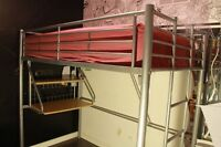 Twin Size Loft Bed and Mattress For Sale