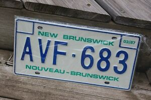 "SET OF NEW BRUNSWICK 1987 LICENCE PLATES ""NEW"""