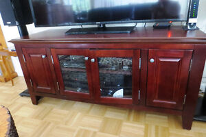 "MOVING & MUST SELL - Wooden Cabinet for 55"" Flat Screen TV"
