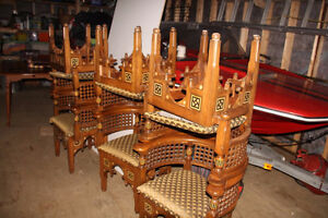 Handcrafted Chairs from Cairo, Egypt
