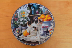 Assiette de collection de chat De Mary Ann Lasher