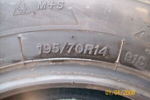 P195/70R14 FIRESTONE WINTERFORCE TIRES