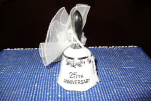25th anniversary ceramic bell