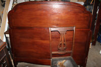 Very nice antique Mahogany Double Bed Assembly
