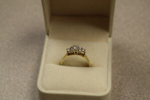 Appraised 3.26G 14KT Gold Diamond Engagement Ring, 0.57ct