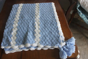 New Chrocheted Baby Afghan /  Crib Blanket