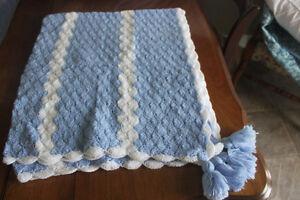 New Chrocheted Baby Afghan /  Crib Blanket