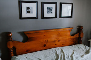 Solid wood headboard for Queen bed - NEW PRICE
