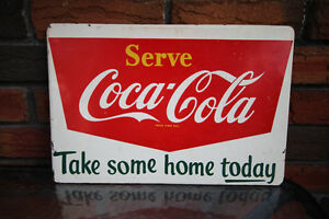 COKE METAL RACK SIGN