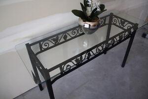 Elegant Black Wrought Iron Hall Table Kingston Kingston Area image 9