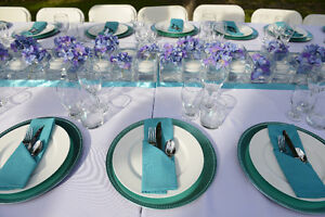Satin blue table runners West Island Greater Montréal image 3