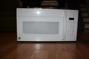 For Sale: White Kenmore over the range microwave