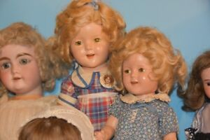 Shirley Temple antique dolls (2) and collectible creamer