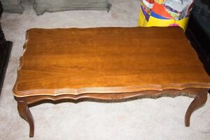Antique coffee table and end table