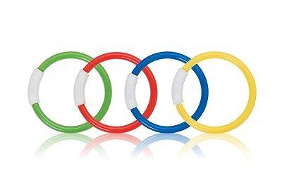 4 Tauchringe mit Gewicht Tauchspiel Tauchspielzeug Wasserspielzeug tauchen Ring