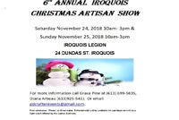6th Annual Iroquois Christmas Artisan Show