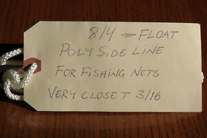 8/4 POLY SIDE LINE WITH CORE FOR COMMERCIAL FISHING NETS FLOATS