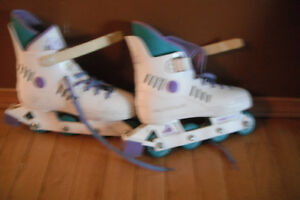 Inline skates, ladies size 3