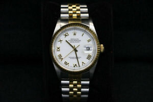 Rolex DateJust Oyster Perpetual Two Tone Watch 16200 (#16749)