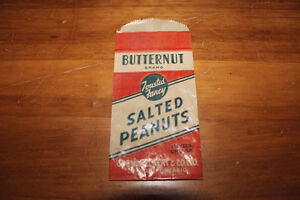 Old Butternut Brand Salted Peanuts Bag - Gorman Eckert & Co. London Ontario image 1