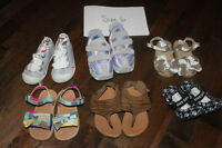 toddler girl size 6 shoes, 6W and 6.5